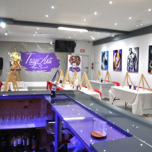 tray arts - custom painting - paint night - paint party -toronto - space rental - event space - party room - 12